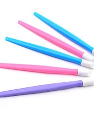 новое высокое качество 5pcs пластиковом ногтя кутикулы толкателем для наклейки ногтей толкатель маникюрных инструментов (случайный цвет)