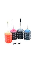 canon encre compatible hp, un paquet de 4boxes, box chaque différentes couleurs, noir, rouge, jaune, bleu