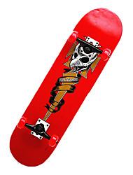 klassische Skateboard (70 * 51mm) silbern / rot