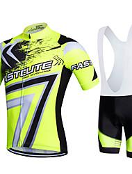 Fastcute® Велокофты и велошорты-комбинезоны Жен. / Муж. / унисекс Короткие рукава ВелоспортДышащий / Быстровысыхающий /