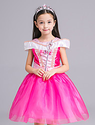 Ball Gown Knee-length Flower Girl Dress - Satin / Tulle Short Sleeve Jewel with Bow(s) / Ruffles