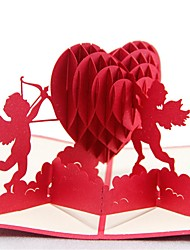 Paper Craft 3D Pop-up Greeting Card For Valentine's day
