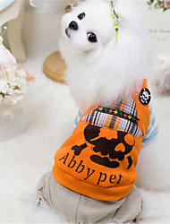 Hunde Pullover Blau / Orange Hundekleidung Winter / Frühling/Herbst Totenkopf Motiv Halloween / Lässig/Alltäglich Other
