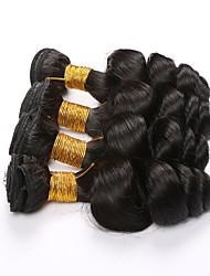 4 Stück Lose gewellt Menschliches Haar Webarten Brasilianisches Haar Menschliches Haar Webarten Lose gewellt