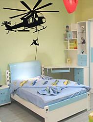 Militar Pegatinas de pared Calcomanías de Aviones para Pared Calcomanías Decorativas de Pared,PVC Material Puede Cambiar de Ubicación
