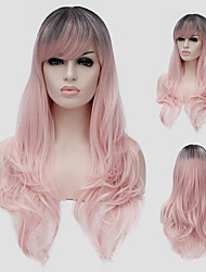 Gouache color micro volume long hair and the wind nightclub performances Street color million with a partial wig.