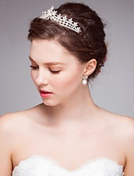 Women's Alloy / Imitation Pearl Headpiece-Wedding / Special Occasion / Casual Tiaras /  Hair Tool 1 PieceSilver /