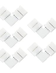 5 Stück 10mm 4pin l Form LED-Anschluss für 5050 RGB-Farbe LED-Streifen, Licht kein Schweißen Streifen-Anschluss für RGB-Streifen