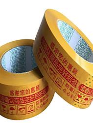 jaune visqueux avertissements taobao rouge bande passante en plastique de 4,5 d'épaisseur 2,5 personnalisée étanchéité du ruban