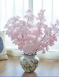 Hi-Q 1Pc Decorative  Real Touch Oriental Cherry  Wedding Home Table Decoration Artificial Flowers