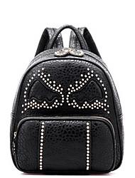 Unisex PU Rivet Angel Wings Sports  Casual  Outdoor Backpack School Travel Bag