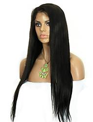 100% virgem malaio rendas completo perucas de cabelo humano em linha reta peruca cheia para a mulher preta estoque 24/8 polegadas