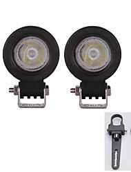 2x 10w inondation a conduit la lumière bar atv suv camion treedozer lampe avec une paire équerres de montage 1inch