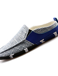 Men's Loafers & Slip-Ons Spring / Fall Comfort Linen Casual Flat Heel Slip-on Black / Blue / Royal Blue Walking