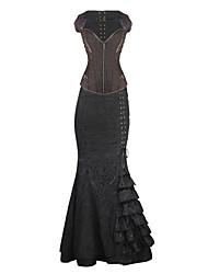 Vrouw Overbuste korset Nachtkleding-Jacquard Retro,Gemiddeld Spandex Vrouwen