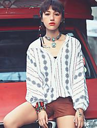 Aporia.As® Women's V Neck Long Sleeve Shirt & Blouse Multi-MZ10028