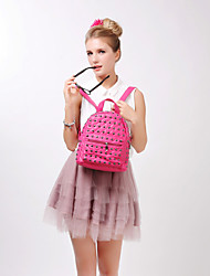 BAOBAOBAOSHI® Women PU Backpack White / Black / Fuchsia-157826