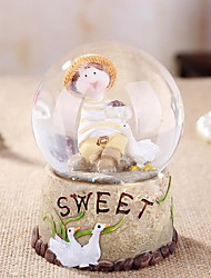 Resin Ornaments Small Fresh Romantic Couple Crystal Ball