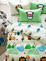 Cartoon 4piece bedding sets print duvet cover Sets 100% Cotton Bedding Set Queen Size