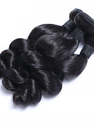 "3pcs/Lot 8""-26""Raw Malaysian Virgin Hair Natural Black Loose Wave Human Hair Weaves Low Price Hot Sale."