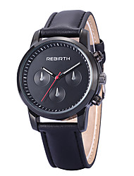 Men's Simple Dress Design PU Leather Strap Quartz Wrist Watch