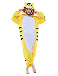Kigurumi Pijamas nueva Cosplay® Tiger Leotardo/Pijama Mono Festival/Celebración Ropa de Noche de los Animales Halloween Amarillo Retazos