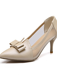 Women's Pull On Spikes Stilettos Pu Solid Pointed Closed Toe Pumps-Shoes