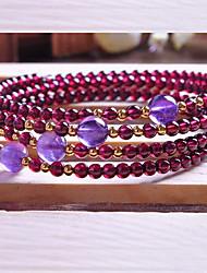 Pulseiras Pulseiras Strand Cristal Forma Redonda Fashion Diário / Casual Jóias Dom Púrpura,1pç