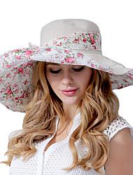 Feminino Casual Poliéster Verão Chapéu de sol,Estampado