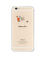 Para Funda iPhone 6 / Funda iPhone 6 Plus Transparente Funda Cubierta Trasera Funda Logo Playing With Apple Suave TPUiPhone 7 Plus /