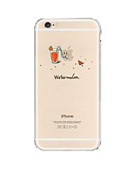 iphone 7 плюс образец творческой питьевой арбуз шаблон сок зеленый прозрачный чехол для Iphone 6с 6 плюс