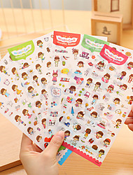 Anniversary 6pcs Stickers Multi Color