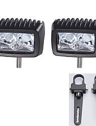 "1"" A pair Mounting Brackets + High-power 2X 10W LED light Bar Offroad Driving Bar SUV"