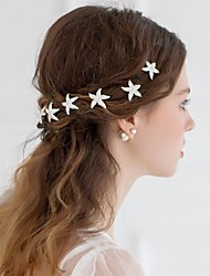 Women's Alloy Headpiece-Wedding / Casual Flowers / Hair Stick / Hair Tool 1 Piece Silver Round free size