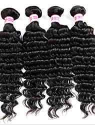 Hot Sale 4 Bundles Unprocessed Indian Virgin Hair Curly 100% Indian Human Hair Deep Wave
