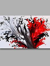 Pintada a mano Abstracto / Paisaje Pinturas de óleo,Modern Un Panel Lienzos Pintura al óleo pintada a colgar For Decoración hogareña