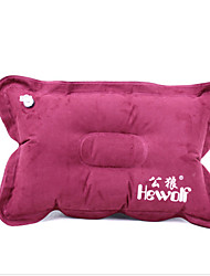Suede Inflatable Pillow Pillow Pillow Outdoor Travel Push Camping