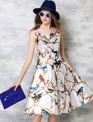 MAXLINDY  Women's Going out /Cocktail / Holiday Vintage / Street chic / Sophisticated A Line Dress