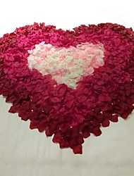 Paper Rose Petals Set(8 Packs Burgundy/10 Packs Roseo/5 Packs White/3 Packs Pink Petals) For Valentine's Day Wedding