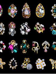 5pcs unhas cor decoração liga de arte bowknot estrela do mar pregos o patch no11-31 opcional