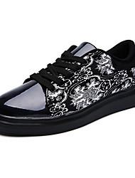 Herren-Sneaker-Outddor / Lässig / Party & Festivität-Stoff / Leder-Flacher Absatz-Komfort-Blau / Weiß / Silber