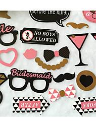 Acessórios do partido Acessório para Fantasia Festa de Casamento Tema rústico Other Não-Personalizado Cartão de Papel Duro Multicolorido