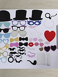44 Pcs Party Photo Booth Props Holiday Decorations Party MasksCool For Wedding Party Graduation Birthdays