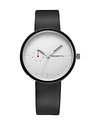REBIRTH® Unisex Simple Fashion Analog Display PU Leather Strap Quartz Wrist Watch
