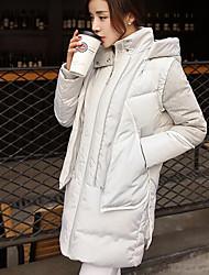 Damen Daunen Mantel - Street Schick Langarm Polyester