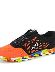 Masculino-Tênis-Conforto-Rasteiro-Preto Azul Vermelho-Camurça Pele-Ar-Livre Casual Para Esporte