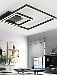 Remoter Dimming Led Ceiling Light 70Watt Flush Mount Aluminium Black Painting for Living room Foyer