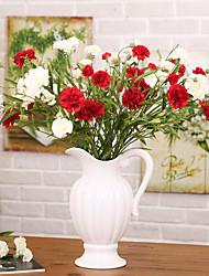 1 1 Ramo Poliéster / Plástico Cravo Flor de Mesa Flores artificiais 27.9*inch/71cm