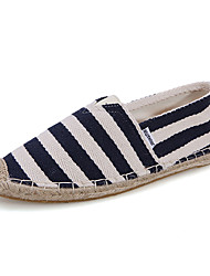 Women's Loafers & Slip-Ons Spring / Summer / Fall / Winter Comfort Canvas Casual Flat Heel Split Joint Blue