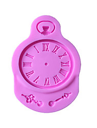 Random Color Fondant 3D Clock Silicone Mold DIY Pastry Pocket Watch Mould For Cupcake Decoration Sugar Craft Baking Cake Decorating Tools